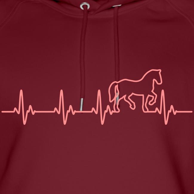Vorschau: Horse Heartbeat - Unisex Bio-Hoodie von Stanley & Stella