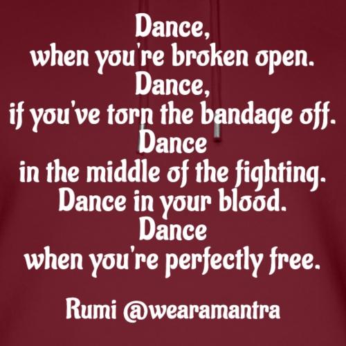 Rumi Dance - Felpa con cappuccio ecologica unisex di Stanley & Stella