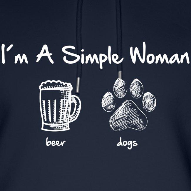 Vorschau: simple woman beer white - Unisex Bio-Hoodie von Stanley & Stella
