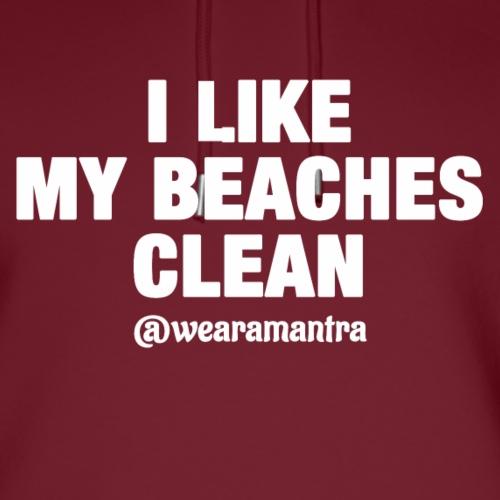 I LIKE MY BEACHES CLEAN - Felpa con cappuccio ecologica unisex di Stanley & Stella