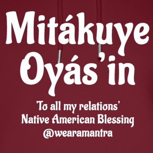 Mita kuye Oyas'in 2 white - Felpa con cappuccio ecologica unisex di Stanley & Stella