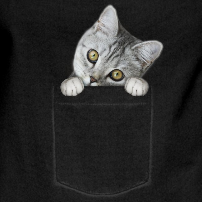 cat pocket - Kontrastschürze