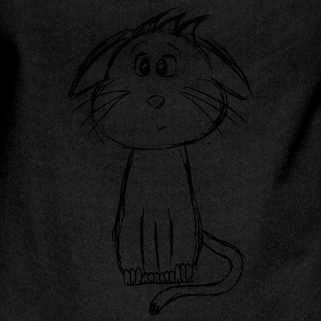 Kissa Kissanpentu musta scribblesirii