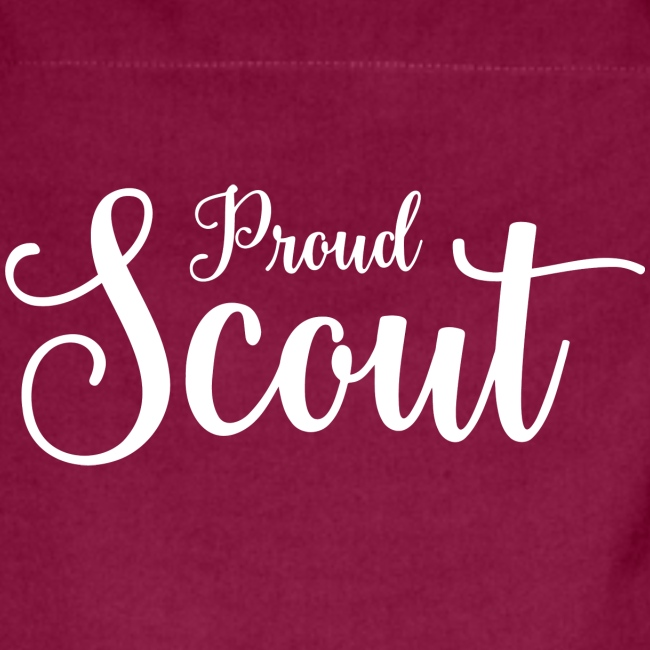 Proud Scout Lettering White