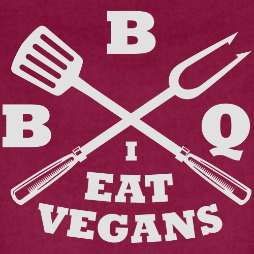 Barbecue je mange végétaliens - Tablier contrasté