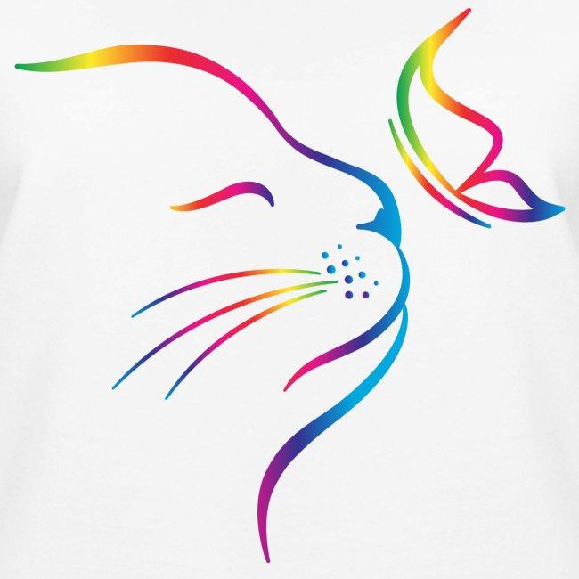 Vorschau: rainbow butterfly cat - Frauen Premium Pullover