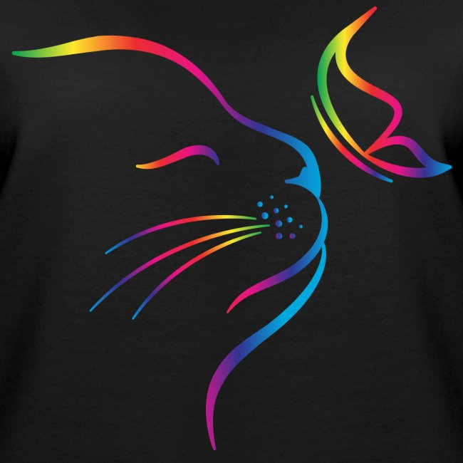 rainbow butterfly cat - Frauen Premium Pullover