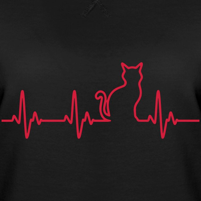 Vorschau: Ein Herz für Katzen - Frauen Premium Pullover