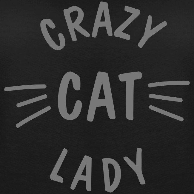 Vorschau: Crazy Cat Lady meow - Frauen Premium Pullover