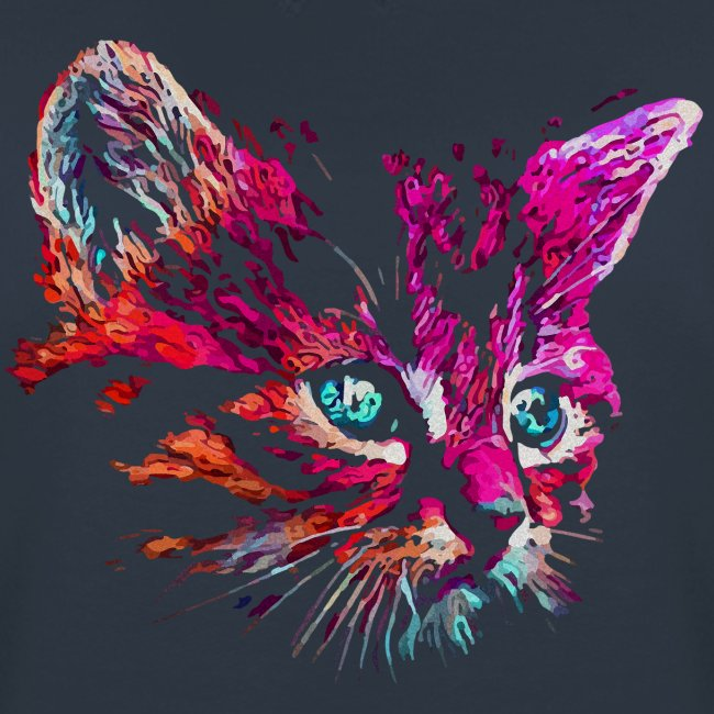 cat pink paint - Frauen Premium Pullover