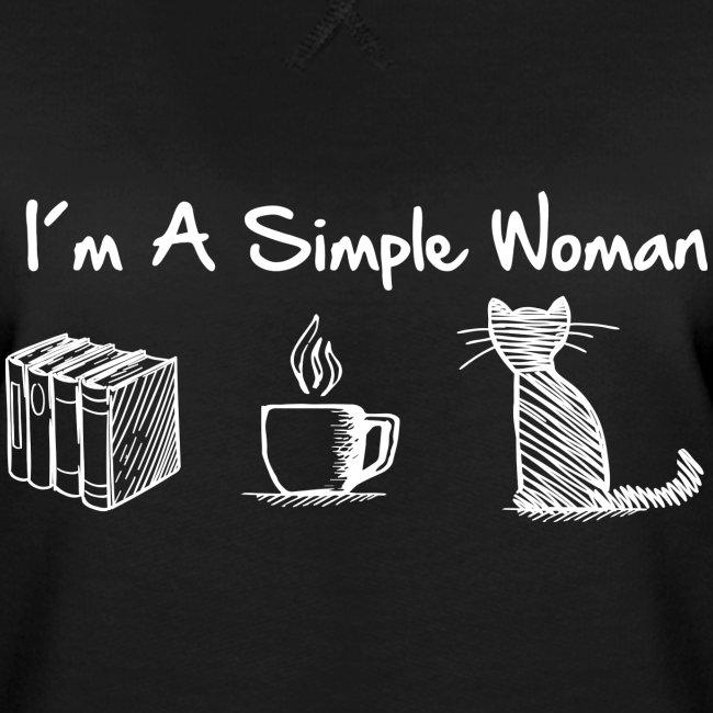 Vorschau: simple woman cat books - Frauen Premium Pullover