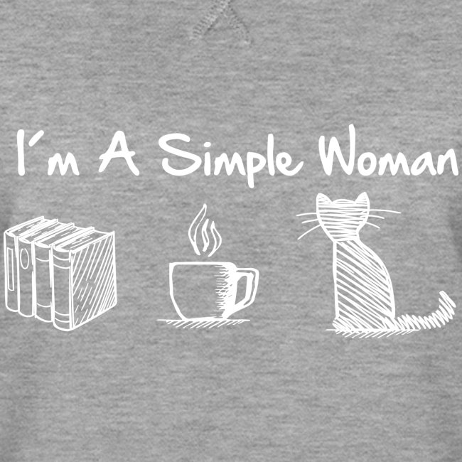 Vorschau: simple woman cat books - Frauen Premium Pullover