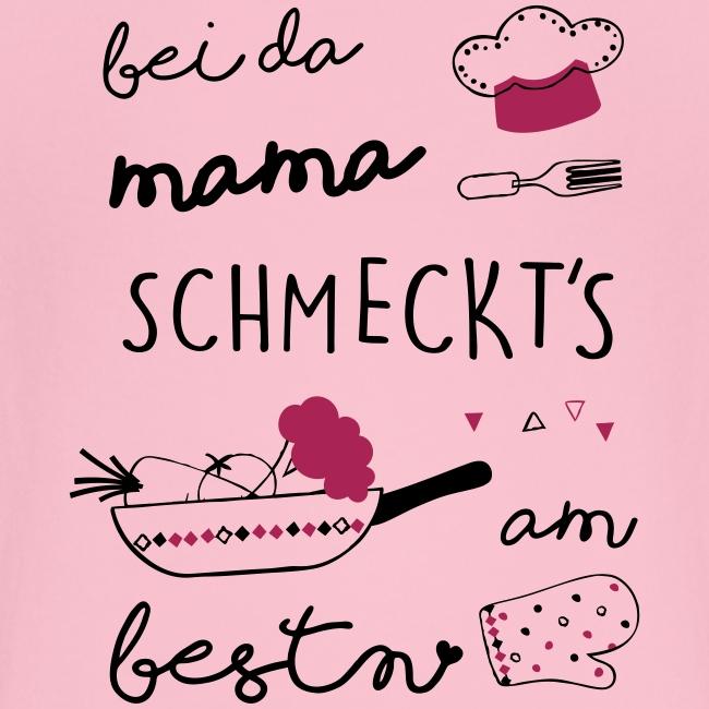 Vorschau: Bei da Mama schmeckts am bestn - Baby Bio-T-Shirt