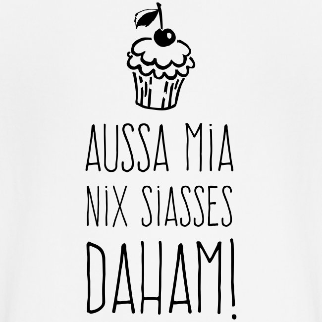 Vorschau: Außa mia nix Siaßes daham - Baby Bio-T-Shirt