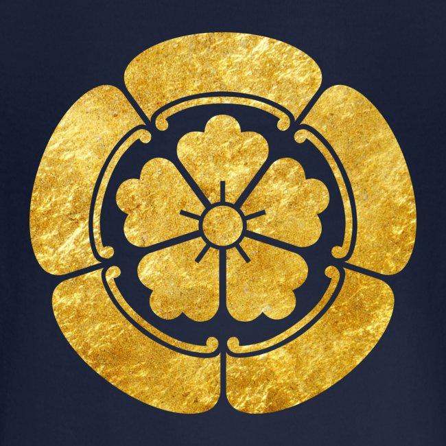 Oda Mon Japanese samurai clan faux gold on black