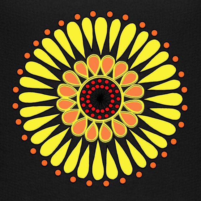 Yellow Sunflower Mandala