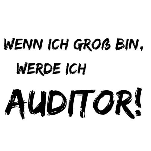 wenn ich gross bin... auditor black - Brotdose