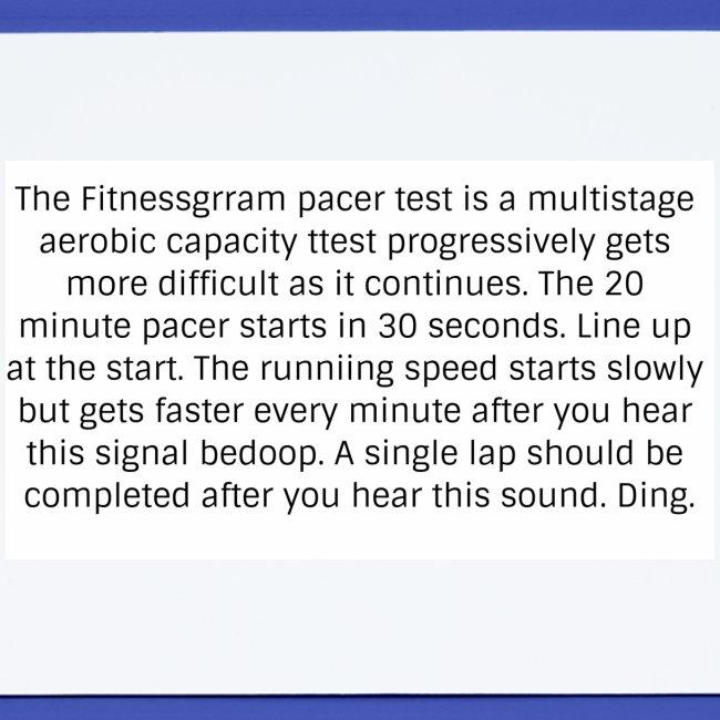 FitnessGram pacer Test