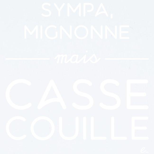 """T-shirt Femme """"Sympa, mignonne"""""""