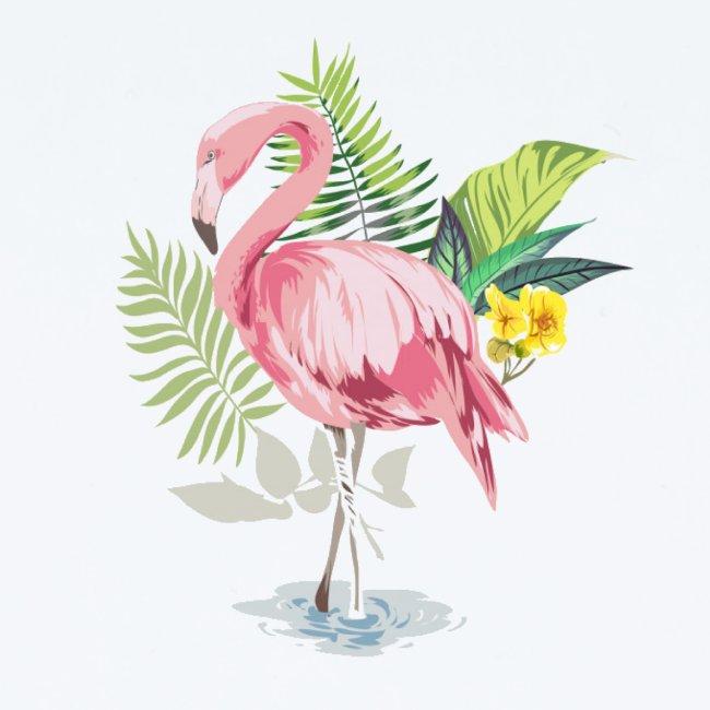 Flamingo tropical forest
