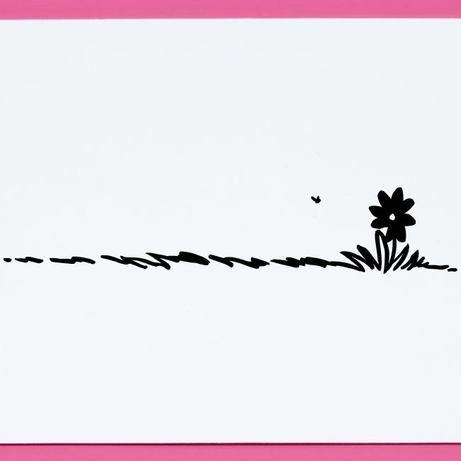 Cartoon Flower on grass