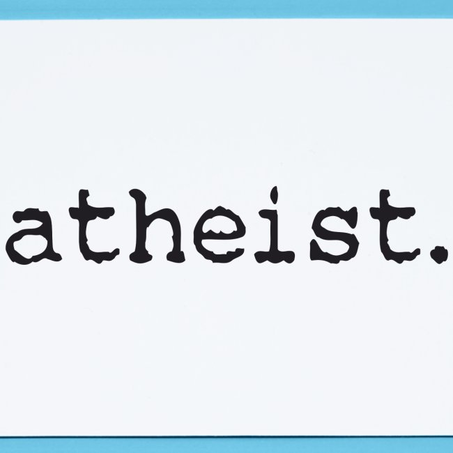 atheist BLACK