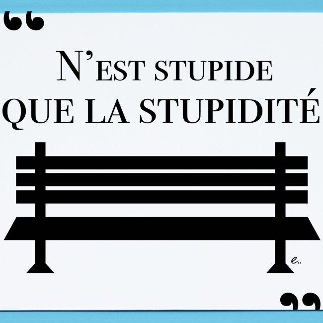 N'est stupide que la stupidité