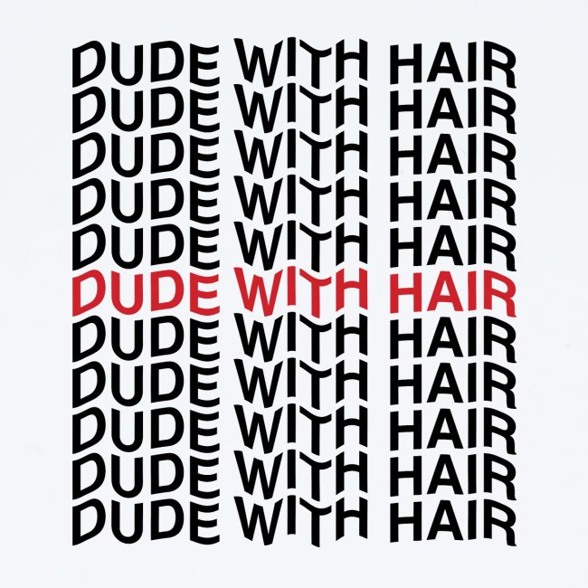 Dude With Hair Red Wave