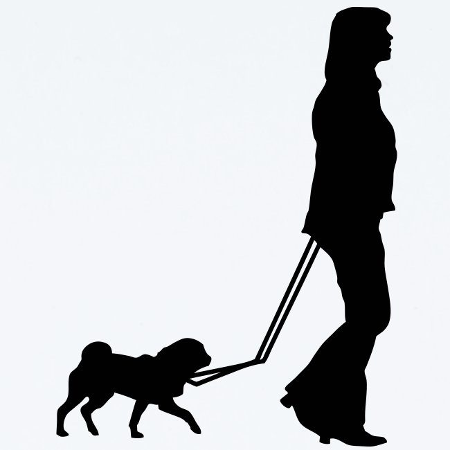 mops spaziergang