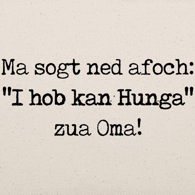 "Vorschau: Ma sogt ned afoch ""I hob kan Hunga"" zua Oma - Täschchen"