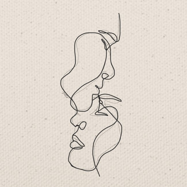 two faces one line