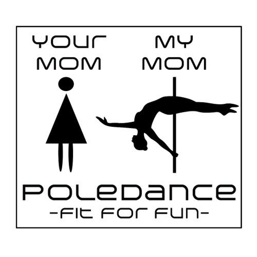 'My Poledance Mom' - Sticker