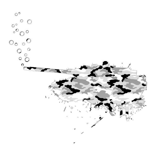 soap bubbles splash tank - Snow Camo