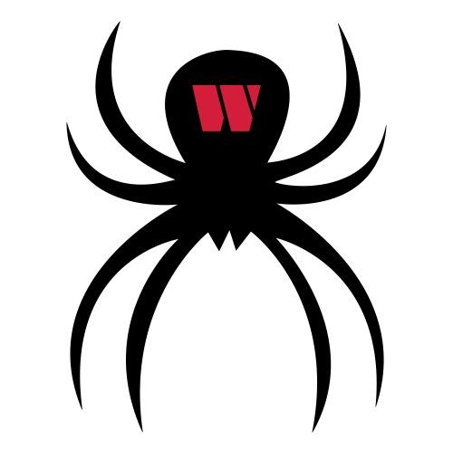 Spider black / red