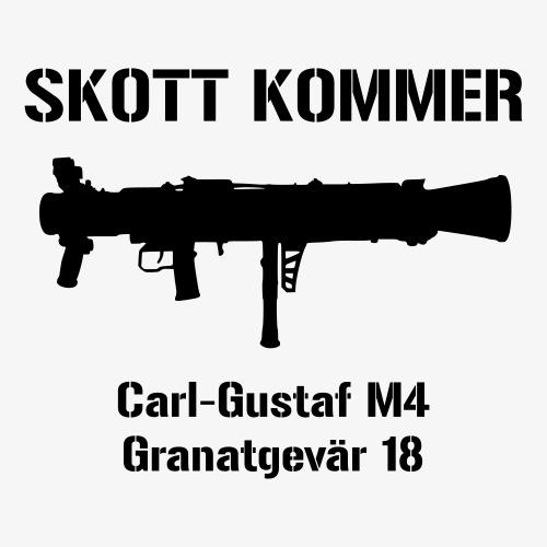Skott Kommer CGM4 - Klistermärke