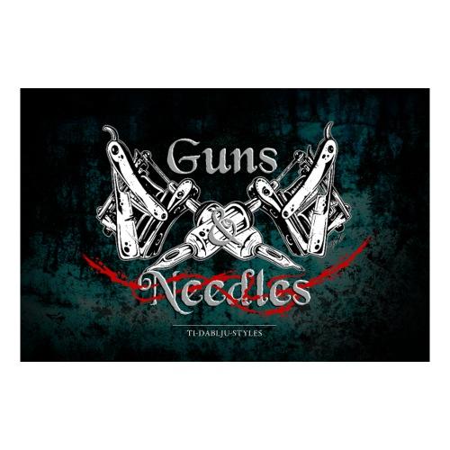 Poster Guns n Needles - Sticker