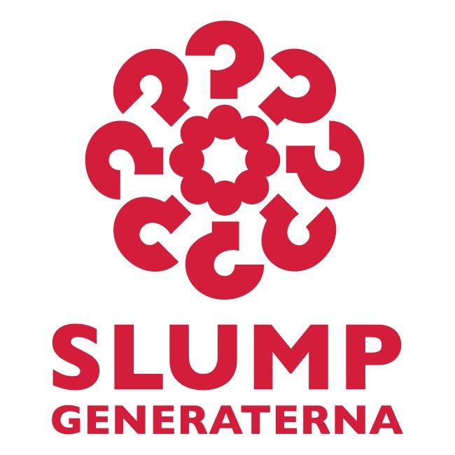Slumpgeneraterna, logo röd