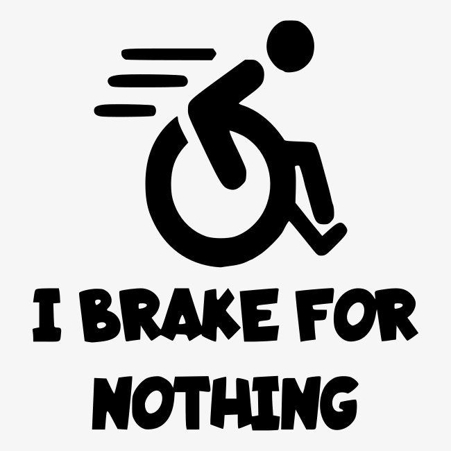 > Ik stop voor niemand in mijn rolstoel, roller