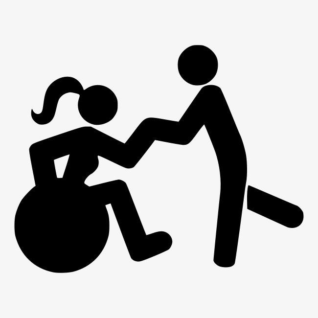 Afbeelding van vrouw in rolstoel die danst met man
