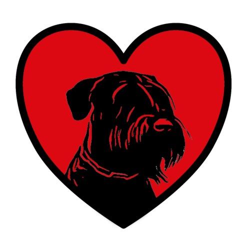 Schnauzerliebe / Riesenschnauzer Hund Sticker - Sticker