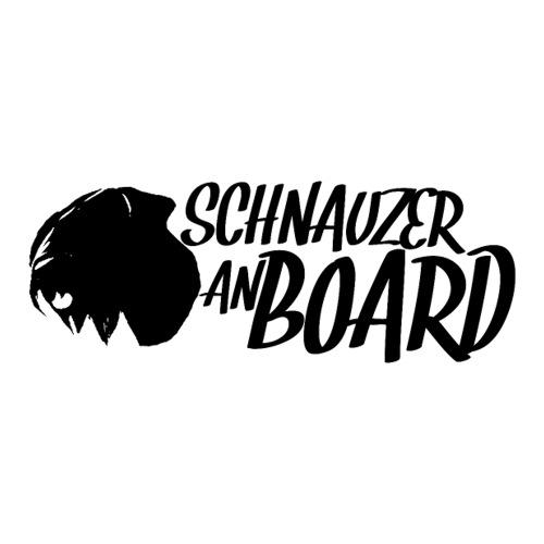 Schnauzer an Board! Sticker Hunde Riesenschnauzer - Sticker