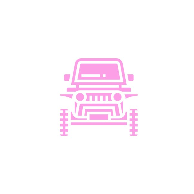 Outdoors pink car jeep