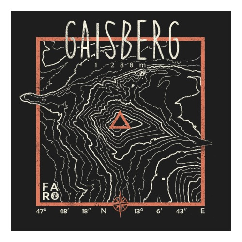 Gaisberg Contour Lines - Pitch Black - Sticker