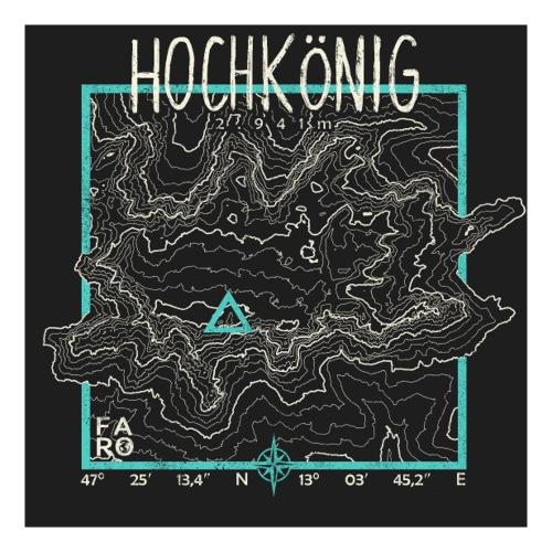 Hochkoenig Contour Lines - Pitch Black - Sticker