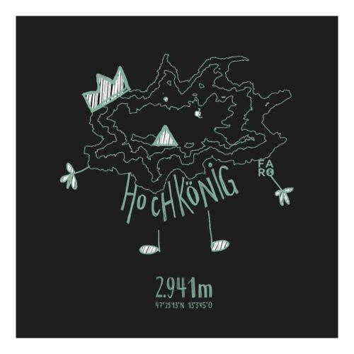 The Hochkoenig Monster - Pitch Black - Sticker