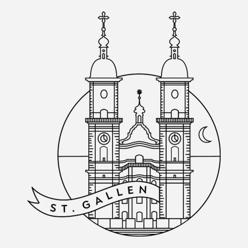 Sankt Gallen | Saint Gallen | St.Gallen Kathedrale - Sticker