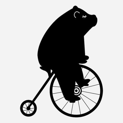 Süsser Bär auf einem Fahrrad - Sticker