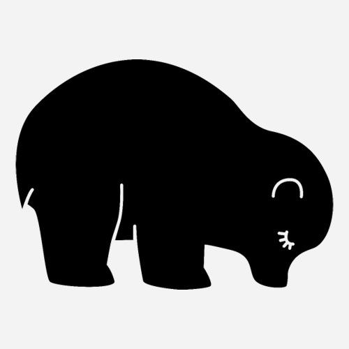 Der süsse Bär vom Bärenplatz St.Gallen - Sticker