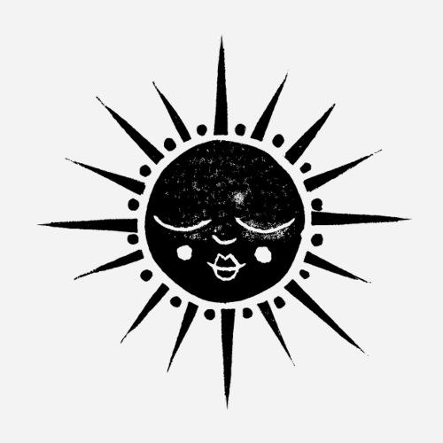 Sonne | Sun | Stern - Sticker