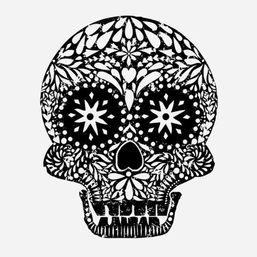Dias de los Muertos   Skull   Der Tag der Toten - Sticker
